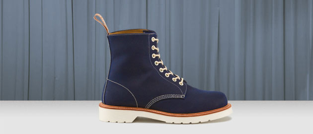 Beckett Navy Chera Wax Canvas